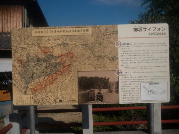 御坂サイフォン橋(眼鏡橋):案内図